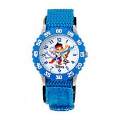 Disney Childrens Jake and the Never Land Pirates Time Teacher Watch in Stainless Steel
