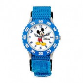 Disney Childrens Mickey Mouse Time Teacher Watch in Stainless Steel with Articulating Hands
