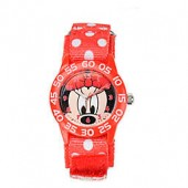 Disney Childrens 32mm Minnie Mouse Plastic Watch with Nylon Strap