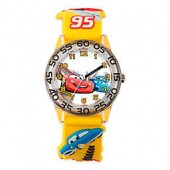 Disney Childrens 32mm Cars Lightning McQueen and Friends Plastic Watch in Yellow