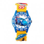 Disney Childrens 32mm Cars Raoul 3D Plastic Watch in Yellow