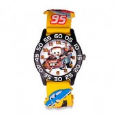 Disney Childrens 32mm Cars Mater 3D Plastic Watch in Yellow