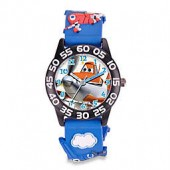Disney Childrens 32mm Planes Watch with 3D Plastic Strap