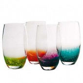 Artland Fizzy Highball Glasses in Assorted Colors (Set of 4)