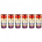 Classic Touch Multicolored Tumblers with 24K Gold Artwork (Set of 6)