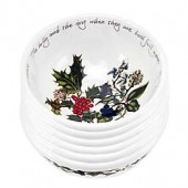 Portmeirion Holly & Ivy Fruit Bowl (Set of 6)
