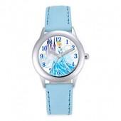 Disney Cinderella Childrens 32mm Watch in Stainless Steel with Light Blue Strap