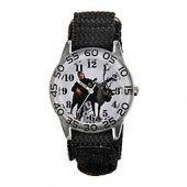 Disney Frozen Sven, Olaf, and Kristoff Childrens 32mm Time Teacher Watch with Black Strap