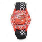 Disney Cars Lightning McQueen Childrens 32mm Time Teacher Watch with Black Nylon Strap