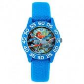 Disney Planes Childrens 32mm Time Teacher Watch with Blue Nylon Strap