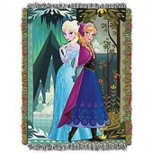 Disney Frozen Two Worlds, One Heart Tapestry Throw