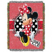 Disney Minnie Mouse Forever Minnie Tapestry Throw