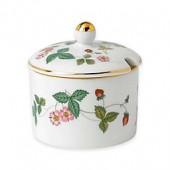 Wedgwood Al Fresco Wild Strawberry Jam Pot