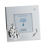 Wedgwood Peter Rabbit 3.5-Inch x 3.5-Inch Metal Picture Frame in Silver