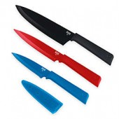 Kuhn Rikon Colori Plus Professional 3-Piece Knife Set