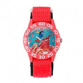 Disney Finding Dory Childrens 32mm Hank Time Teacher Watch in Red Plastic w/Red Nylon Strap