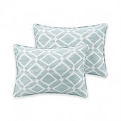 Madison Park Delray Diamond Printed 14-Inch x 20-Inch Decorative Pillow (Set of 2)