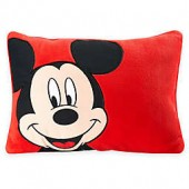 Disney Mickey Toddler Throw Pillow in Red