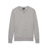 French Terry Crew-Neck Sweatshirt