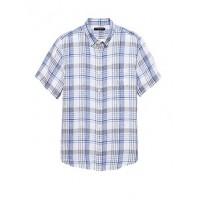 Camden Standard-Fit Linen Plaid Shirt