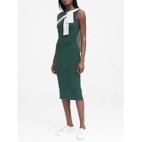 Cozy Knit Side-Rouche Sheath Dress