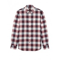 Grant Slim-Fit Luxe Flannel Buffalo Check Shirt