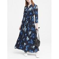 Anneke Floral Maxi Shirt Dress