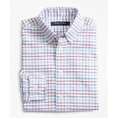 Boys Non-Iron Supima Oxford Mini Tatterall Sport Shirt