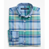 Boys Non-Iron Supima Cotton Plaid Sport
