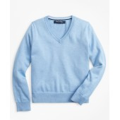 Boys Supima Cotton V-Neck Sweater
