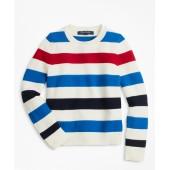Boys Cotton Stripe Crewneck Sweater