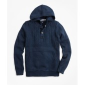 Boys Cotton Hooded Henley Sweater