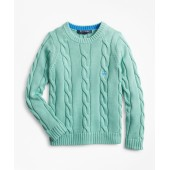 Boys Cable Crewneck Sweater