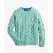 Boys Cable Crewneck Sweater