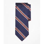 Textured Wide Split Stripe Tie