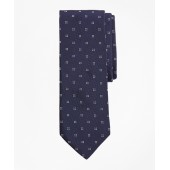 Square Dot and Flower Tie