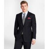BrooksGate Milano-Fit Bead-Stripe Twill Suit Jacket