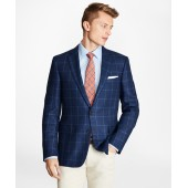 Regent Fit Silk Blend Windowpane Sport Coat