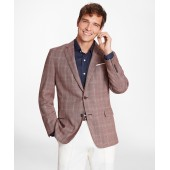 Regent Fit Rust with Tan Check Sport Coat