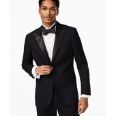 BrooksGate Milano-Fit Wool Tuxedo Jacket
