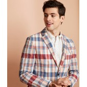 Madras Cotton Two-Button Sport Coat