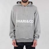 Chari & Co Big Bold Logo Pullover Hoody - Gray