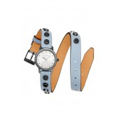 BFFL Grey Ion Plated Tone Studded Double Wrap Watch, 25MM