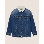 GIRLS FAUX-SHERPA LONGLINE TRUCKER