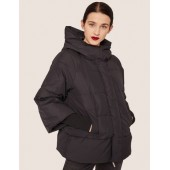 CROPPED HOODED PUFFER JACKET