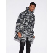 CAMOUFLAGE PRINT TRENCH COAT