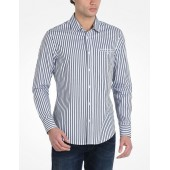 YARN-DYED STRIPED BUTTON-DOWN SHIRT
