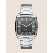 MODERN STAINLESS STEEL SQUARE CASE WATCH