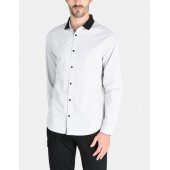 CONTRAST COLLAR OXFORD DOT SHIRT