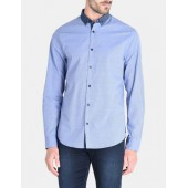 CONTRAST CHAMBRAY BUTTON-DOWN COLLAR SHIRT